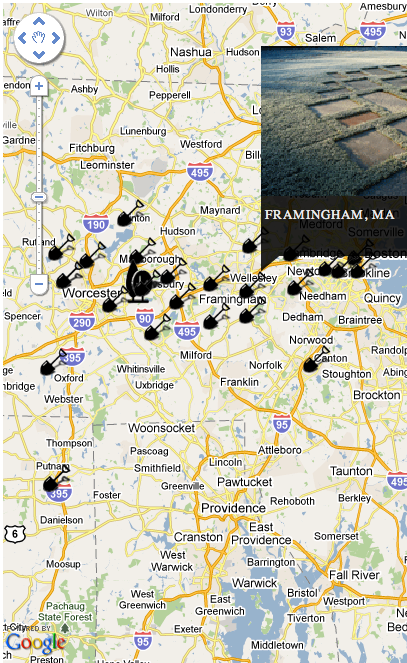 Google Maps API screenshot