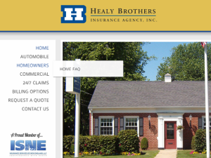 Healy Insurance Agency Website Redesign